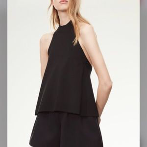 Wilfred le Fou backless amqui knit top black sz xs